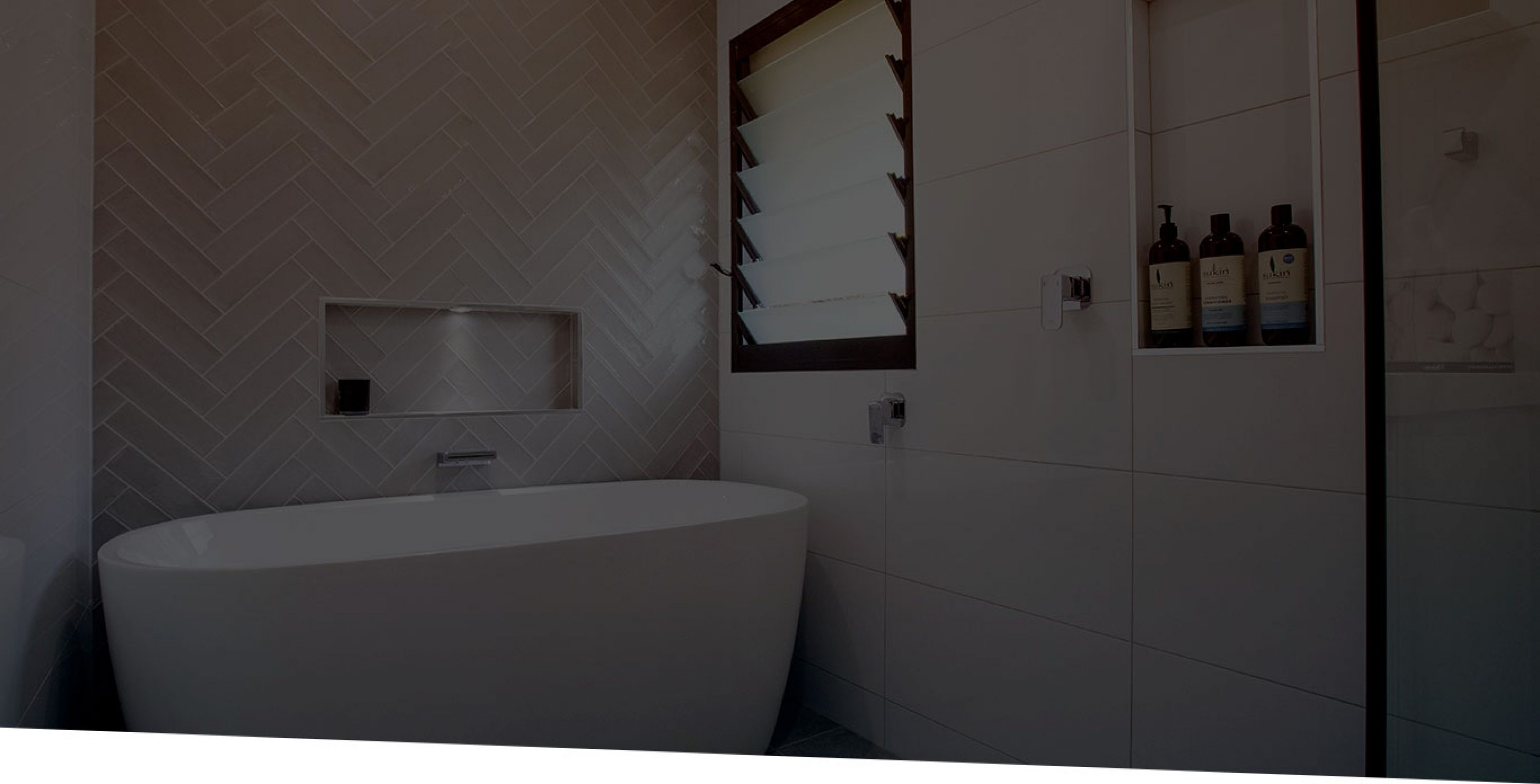 White Bathroom with Bathtub